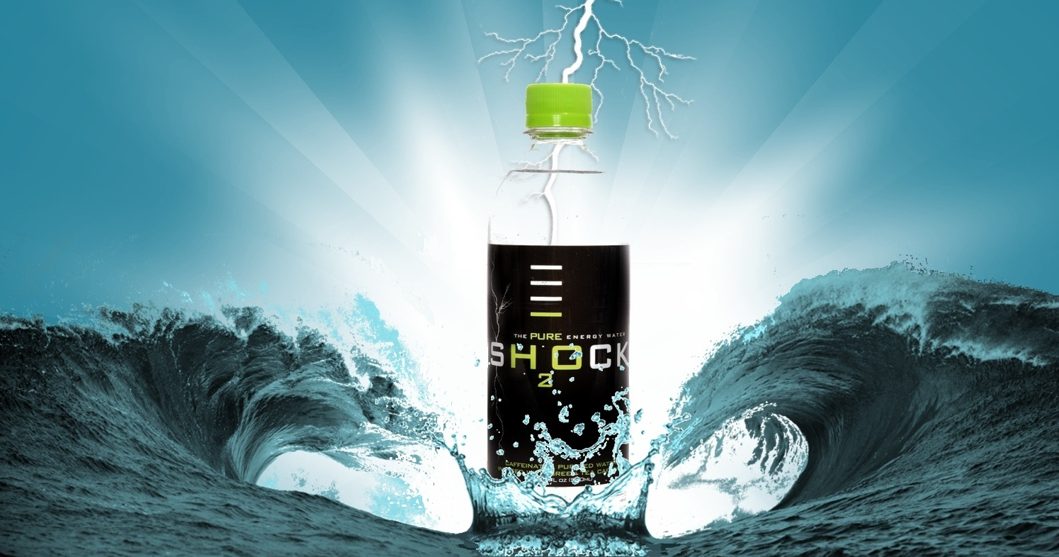 Shock H2O Caffeinated Water